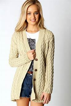 boohoo womens cable knit sleeve hip