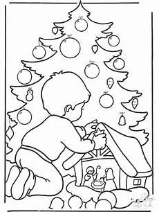 junge beim weihnachtsbaum ausmalbilder weihnachten