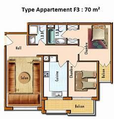 plan appartement 70
