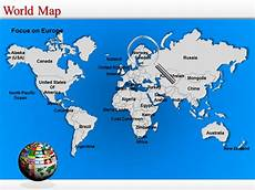 World Map Template Powerpoint World Map Powerpoint Editable World Map World Map Ppt