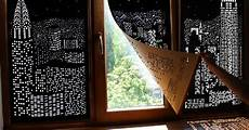 Blackout Design Buildings And Stars Cut Into Blackout Curtains Turn Your