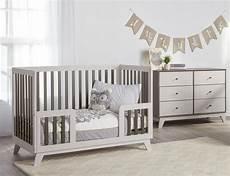 rowan valley flint toddler bed rail two tone gray