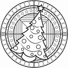 chrstmas mandala with a tree m alas