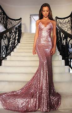 Light Gold Sequin Dress Sparkling Rose Gold Sequin Mermaid Long Evening