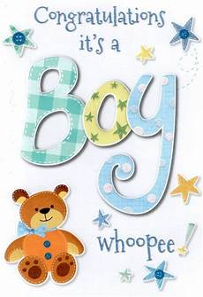 Congrats Baby Card New Baby Boy Card Lovely Cello Wrapped Congratulations