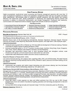 Chief Financial Officer Resume Resume Sample 21 Cfo Finance Executive Resume Career