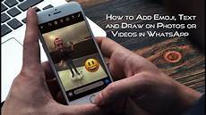 Emoji Pictures Text How To Add Emoji Text And Draw On Photos Or Videos In