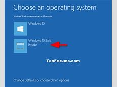 Safe Mode   Add to Boot Options in Windows 10   Windows 10