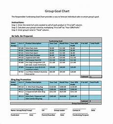 Sales Goal Chart Template Goal Chart Template 9 Free Sample Example Format