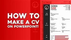 How To Made Cv How To Make A Cv On Powerpoint Skill Development Youtube