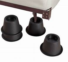 bed risers set of 4 black 3 inch ebay