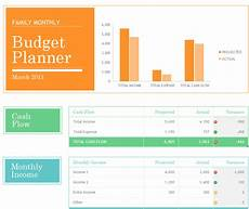 Monthly Family Budget Family Monthly Budget Planner