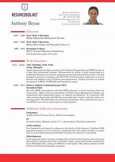 Formet Resume Best Resume Format 2016 Fotolip