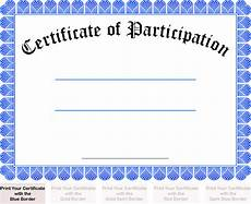 Free Printable Participation Certificates Printable Free Certificate Of Participation