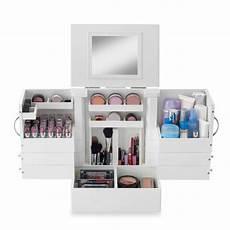 deluxe cosmetic organizer makeup wood holder display