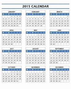Free Printable Yearly Calendar Templates 2015 2015 Calendar Templates Microsoft And Open Office Templates