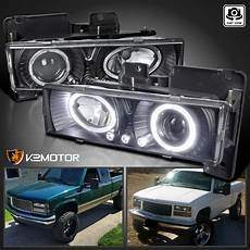 Led Lights For 85 Chevy Truck 1988 1998 Chevy C10 Pickup Suburban Halo Led Projector