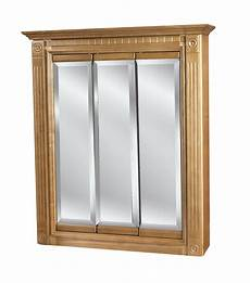 30 x30 3 door mirrored oak medicine cabinet ebay