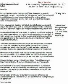 Cover Letter For Site Supervisor Office Supervisor Cover Letter Example Learnist Org