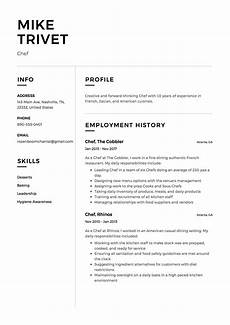 Chef Resumes Full Guide Chef Resume 12 Samples Pdf Amp Word 2019
