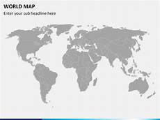 World Map Powerpoint Template World Map Ppt Template Powerpoint World Map Sketchbubble