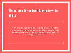 Mla Format Cite A Book How To Cite A Book Review