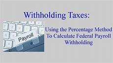 Payroll Withholding Calculator Withholding Taxes How To Calculate Payroll Withholding