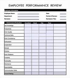 Employee Review Form 6 Employee Review Forms Word Excel Templates
