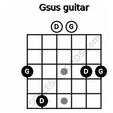 Gsus Guitar Chord Chart Gsus Guitar Chord 5 Guitar Charts Sounds And Intervals
