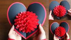 diy flower pop up card paper crafts diy pop up card
