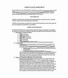 Sales Agreement Template Word Free 17 Sample Downloadable Sales Agreement Templates In