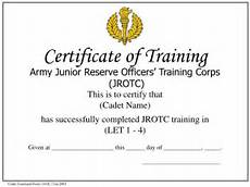 Army Certificates Of Training Ppt Cadet Command Form 134 R 1 Jan 2003 Powerpoint