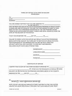 Eviction Notice Form Free 6 3 Day Notice Forms In Word Pdf
