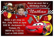 Cars Birthday Invites Disney Cars Birthday Party Invitations Ebay
