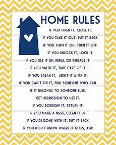 Rental House Rules Template Home Rules Subway Art Digital File House Rules