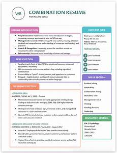 Resume Style Format Types Of Resumes 9 Different Formats Resume Genius