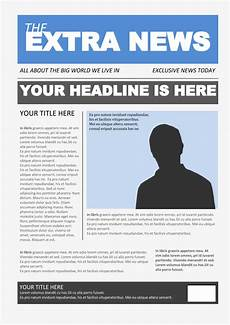 Newspaper Outline For Word Newspaper Template 4 Google Docs Templates