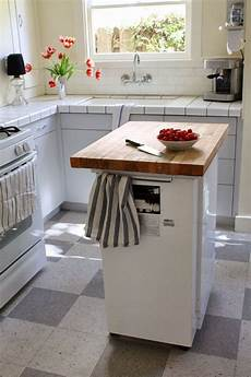 These 10 Portable Islands Work In Your Kitchen Portable Dishwasher Butcher Block Island Portable