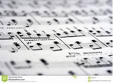 Music On Paper Music Notes On Paper Stock Photo Image Of Circles
