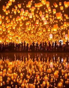 Lanterns And Lights At Chiang Mai Road Sky Lantern Festival Taiwan Romantic Honeymoon