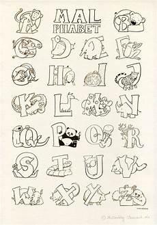 Abc Malvorlagen Quot Das Malphabet Quot Alphabet Mit Tieren Ausmalbild