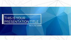 Backgrounds For Powerpoint Slides Free Blue Polygonal Powerpoint Amp Google Slides Templates