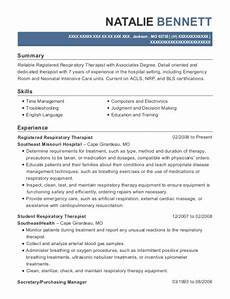Sample Respiratory Therapy Resume Texas Health Resources Resgistered Respiratory Therapist