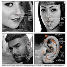 Belly Piercing Chart Body Piercing Charts Ears Jewelry Sizes Gauge Info