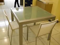 tavoli in vetro e acciaio tavolo tavolo metallo e vetro allungabile scontato 60