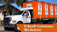 U Haul U Box U Box 174 Moving And Storage Containers We Deliver Youtube