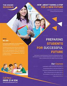 Education Leaflet Design Advanced Education Flyer Design Template In Psd Word
