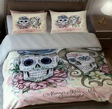 schlafzimmer ideen totenkopf skull bedding sugar skulls duvet cover set or comforter