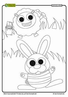 Ausmalbilder Tiere Ostern Malvorlage Ostern Schaf Hase