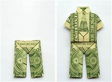 How To Fold Money Into Pants Make Money Origami Trousers Or Pants Step By Step